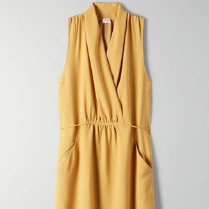 BRAND NEW Aritzia - Wilfred Sabine Dress yellow xs